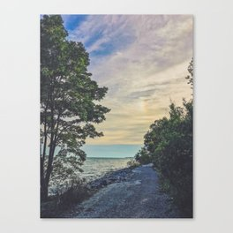 Road by the water Canvas Print