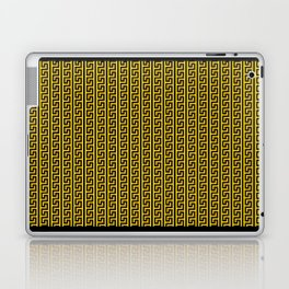 Greek Key Full - Gold and Black Laptop & iPad Skin
