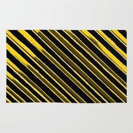Black and Yellow Banner Rug