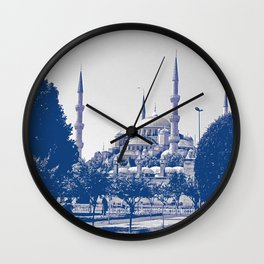 |||The Blue Mosque~ Wall Clock