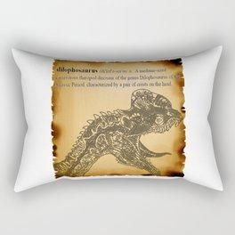 Dilophosaurus Dictionary Rectangular Pillow