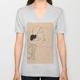 Egon Schiele - Lovers Unisex V-Neck