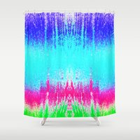 surf Shower Curtains featuring Surf by M Studio