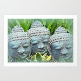 SERENE BUDDHAS Art Print