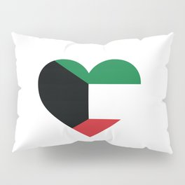 Kuwait  love flag heart designs  Pillow Sham