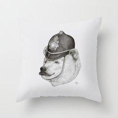 Bearly Legal Throw Pillow