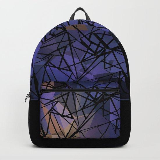 Polygon mesh . Blue . Backpack