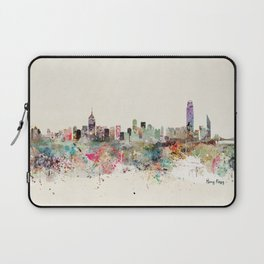 hong kong city skyline Laptop Sleeve