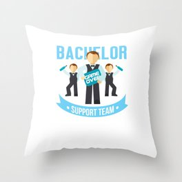 Groomsmen Marriage Party Stag Night Bridegroom Bachelor Support Team Gift Throw Pillow