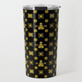 High Quality - Gold and Black   Travel Mug