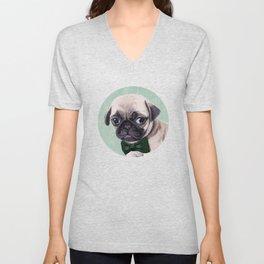 Angry Pug Unisex V-Neck