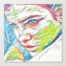 Barbara Palvin (Creative Illustration Art) Canvas Print