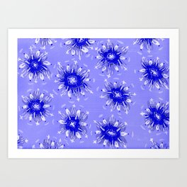 Blue Christie Rose Art Print