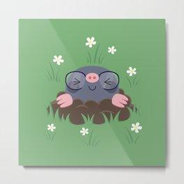 Cute little moles Metal Print