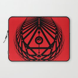 Radiant Abundance (red-black) Laptop Sleeve