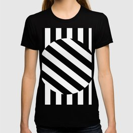 The Turning Point - Abstract Minimalism Art (3) Black & White T-shirt