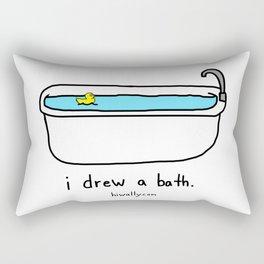 i drew a bath Rectangular Pillow