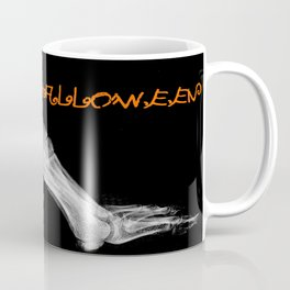 skeleton foot for halloween - scarry,candy, orange,black, trick or treat, fun, jack o lantern, bones Coffee Mug
