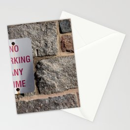No Parking Any Time Stationery Cards