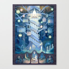 Elven City Canvas Print