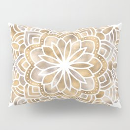 Mandala Multi Metallic in Gold Silver Bronze Copper Pillow Sham