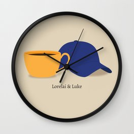 Lorelai & Luke Wall Clock