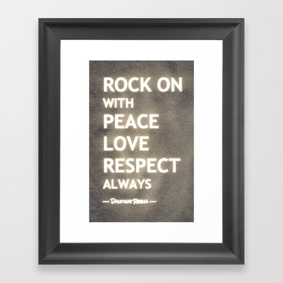 ... my life mantra ... Framed Art Print