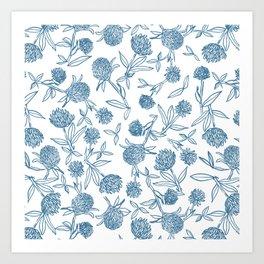 Clover pattern Art Print