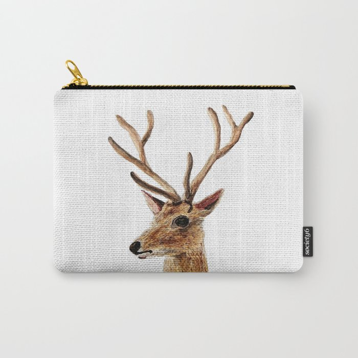 deer watercolor painting Carry-All Pouch