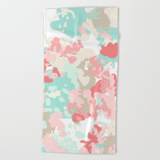 Branch - abstract minimal modern art office home decor dorm gender neutral bright happy painting Beach Towel
