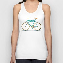 Miami Typo - Bike Unisex Tank Top