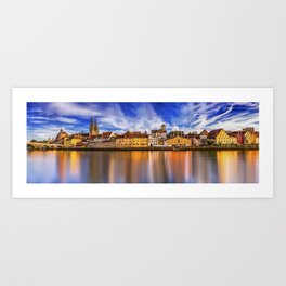 Panoramic Regensburg   Germany Art Print