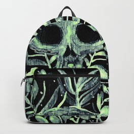 skull in leaves Backpack