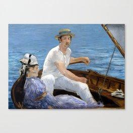 Édouard Manet Boating Canvas Print