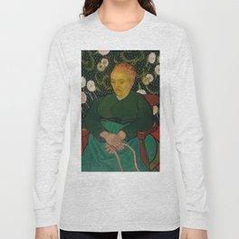 Vincent van Gogh - La Berceuse (Woman Rocking a Cradle; Augustine-Alix Pellicot Roulin, 1851–1930) Long Sleeve T-shirt