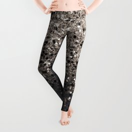 Sepia Glitter #1 #shiny #decor #art #society6 Leggings