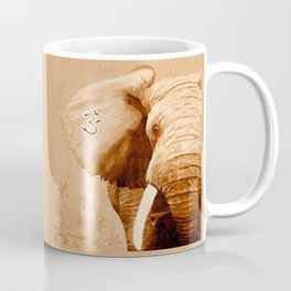 OM - ELEFANT sepia Coffee Mug
