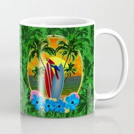 Tropical Sunset Palm Trees Coffee Mug