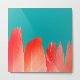 Flamingo Feathers, Colors of Nature Metal Print