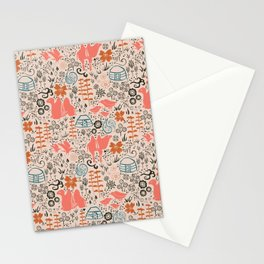 Mongolian Expanse Pattern Stationery Cards