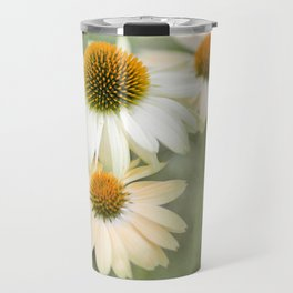 White Cone Flowers Travel Mug