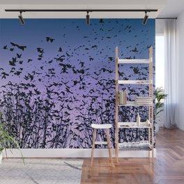 Blue sky birds freedom flight Wall Mural