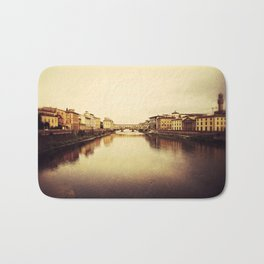 Arno River in Florence Bath Mat
