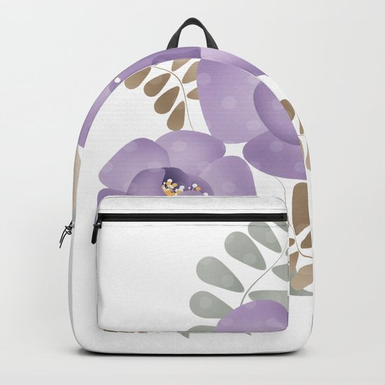 Light lilac roses. Backpack