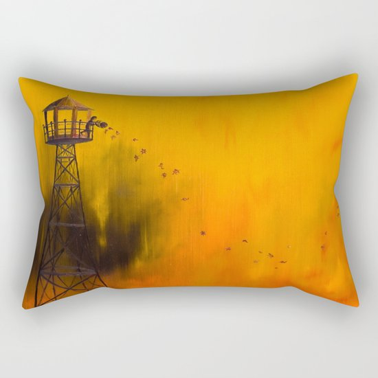 Autumn Tower Rectangular Pillow