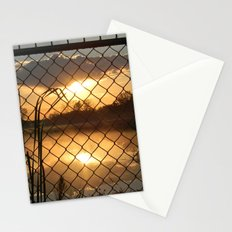Fenced Sunrise Stationery Cards