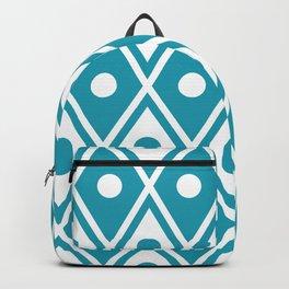 Harlequin Pattern Cerulean Blue Backpack