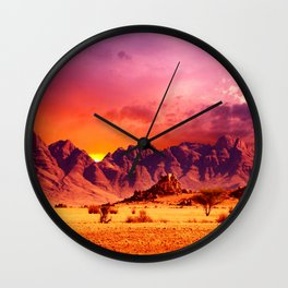 Surface of Earth Wall Clock