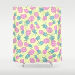 Pink pastel pineapple Shower Curtain