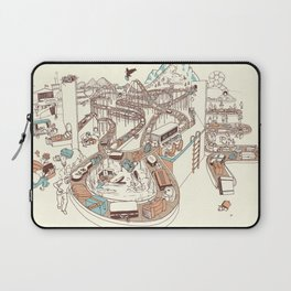 Secret Lives of Luggage Laptop Sleeve